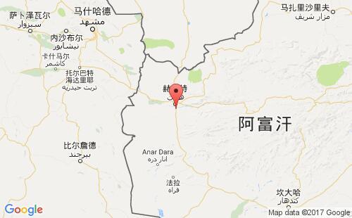 阿富汗港口地图图片
