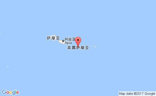 东萨摩亚港口地图图片