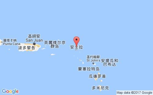 安圭拉港口地图图片