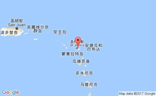 安提瓜和巴布达港口地图图片