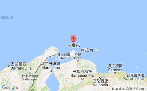 阿鲁巴港口地图图片