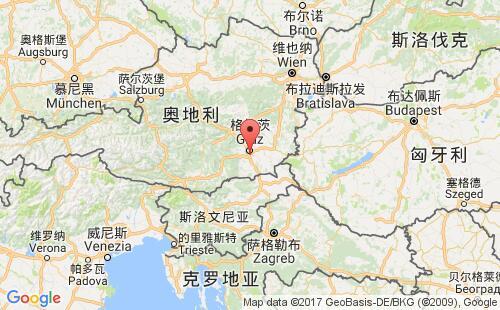 奥地利港口地图图片