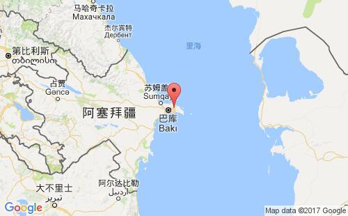 阿塞拜疆港口地图图片