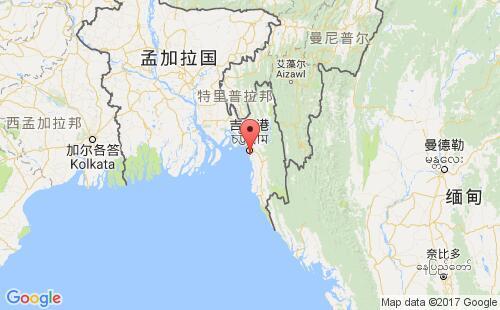孟加拉国港口地图图片