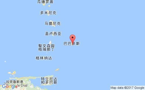 巴巴多斯港口地图图片