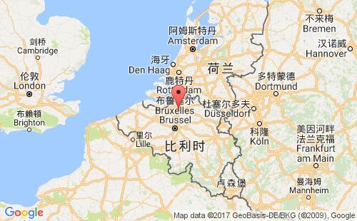 比利时港口地图图片