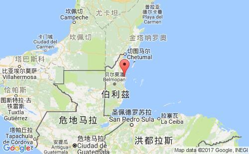 伯利兹港口地图图片