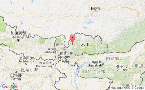 不丹港口地图图片