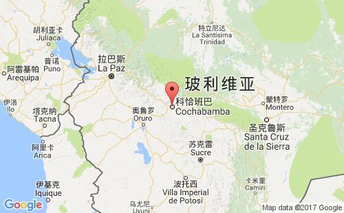 玻利维亚港口地图图片