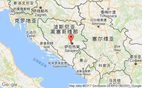 波黑港口地图图片