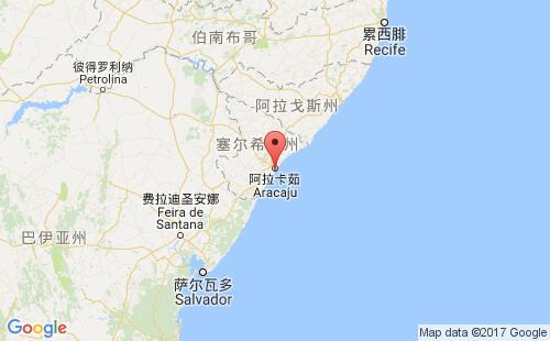 巴西港口地图图片