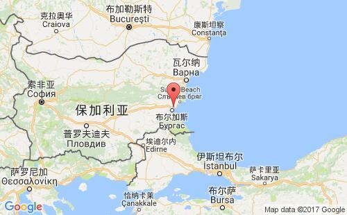 保加利亚港口地图图片