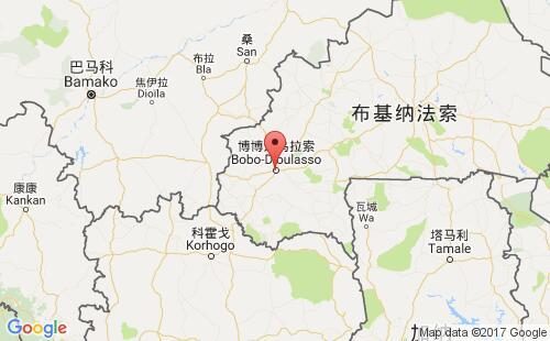 布基纳法索港口地图图片