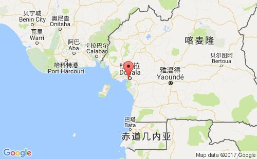 喀麦隆港口地图图片