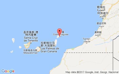 加那利群岛港口地图图片
