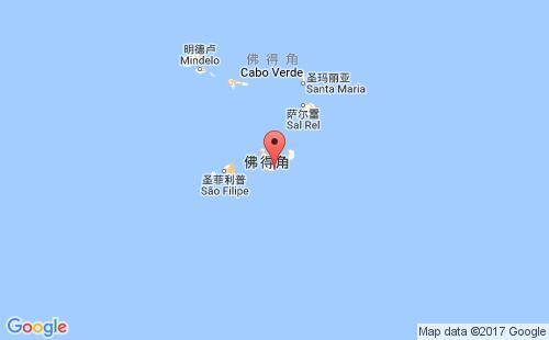佛得角港口地图图片