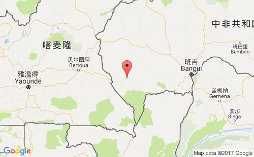 中非港口地图图片