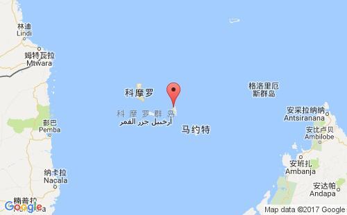 科摩罗港口地图图片