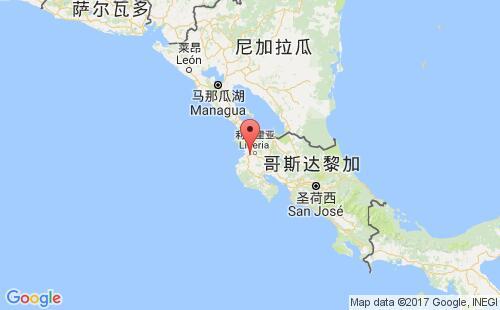 哥斯达黎加港口地图图片