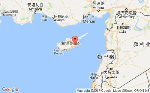塞浦路斯港口地图图片