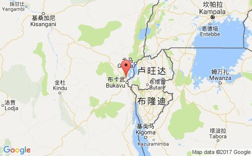 刚果(金)港口地图图片