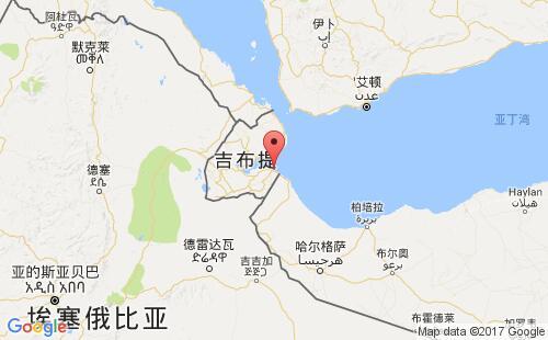 吉布提港口地图图片