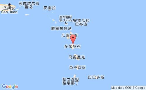 多米尼克港口地图图片