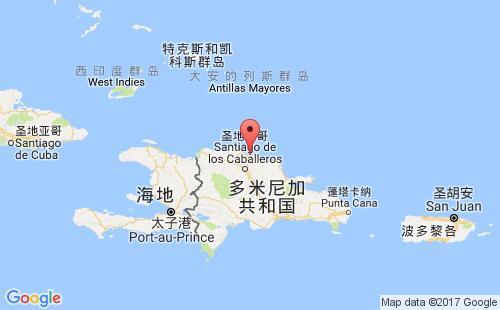 多米尼加港口地图图片
