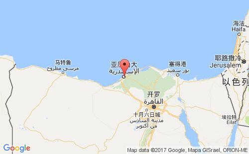 埃及港口地图图片