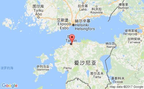 爱沙尼亚港口地图图片
