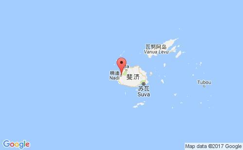 斐济港口地图图片