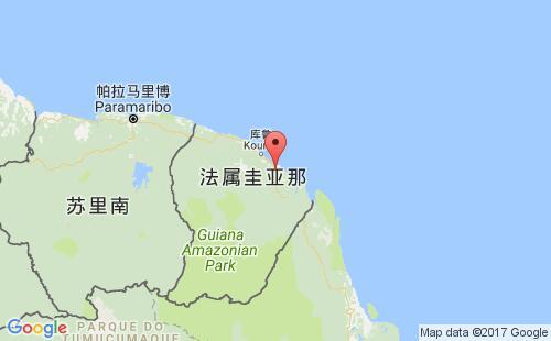 法属圭亚那港口地图图片