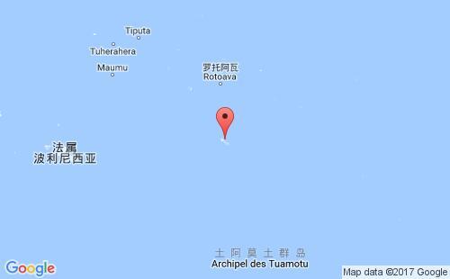 法属玻里尼西亚港口地图图片