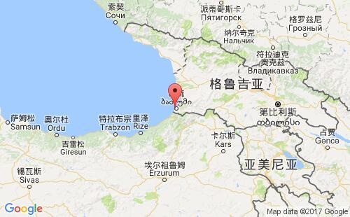 格鲁吉亚港口地图图片