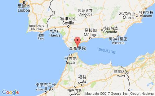 直布罗陀港口地图图片
