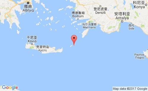 希腊港口地图图片