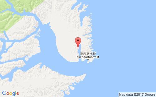 格陵兰港口地图图片