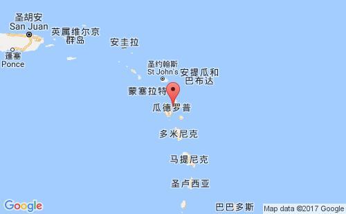 瓜德罗普港口地图图片