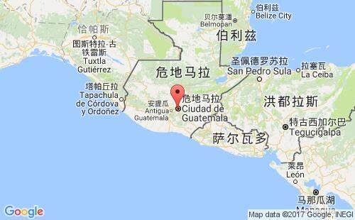 危地马拉港口地图图片