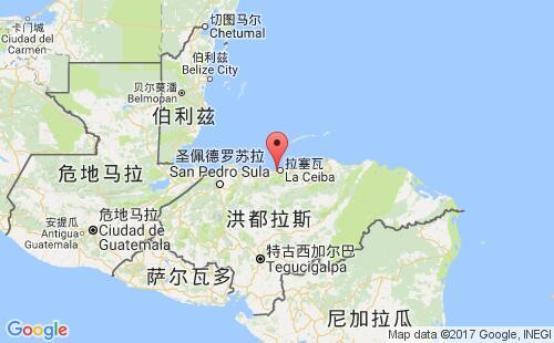 洪都拉斯港口地图图片