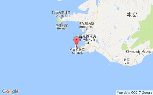 冰岛港口地图图片