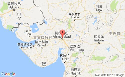 印度港口地图图片