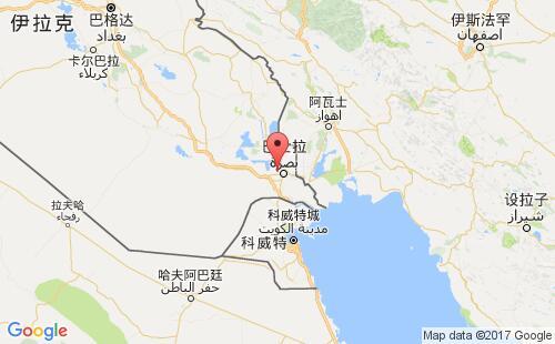 伊拉克港口地图图片