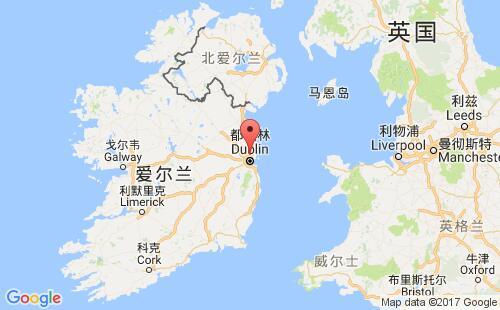 爱尔兰港口地图图片