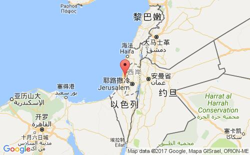 以色列港口地图图片