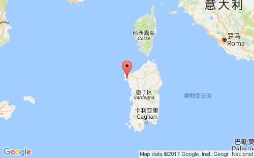 意大利港口地图图片