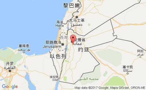 约旦港口地图图片