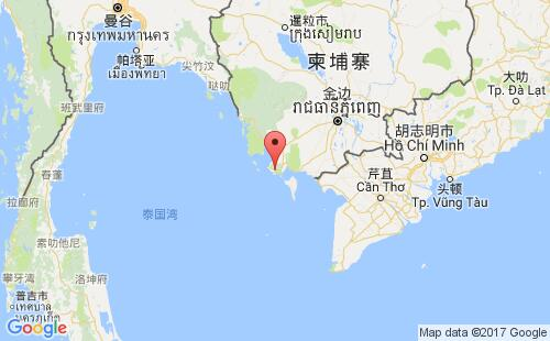 柬埔寨港口地图图片