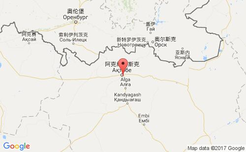 哈萨克斯坦港口地图图片