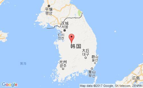 韩国港口地图图片